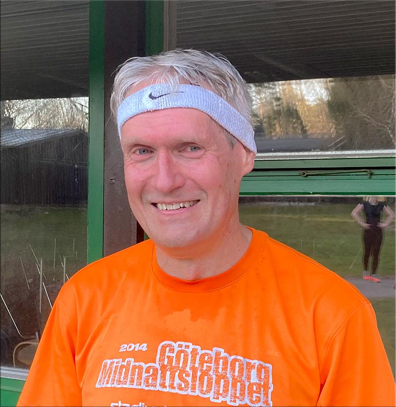 Den rutinerade löparen Lars Pensjö är glad efter passet